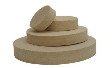 Plstěné kotouče - středně tvrdá (0,56 g/cm3)