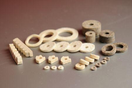 Typický plstěný komponenty